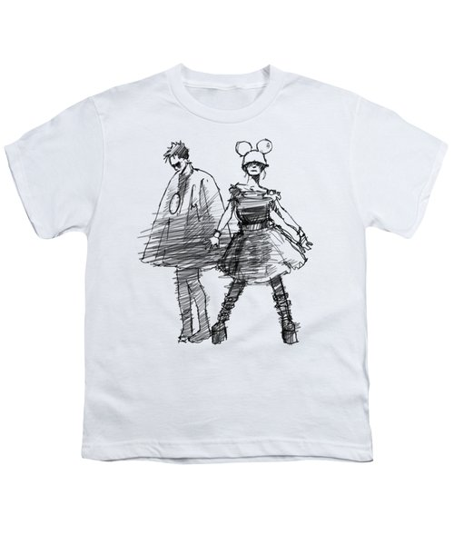 Mouse And Morse Youth T-Shirt by H James Hoff