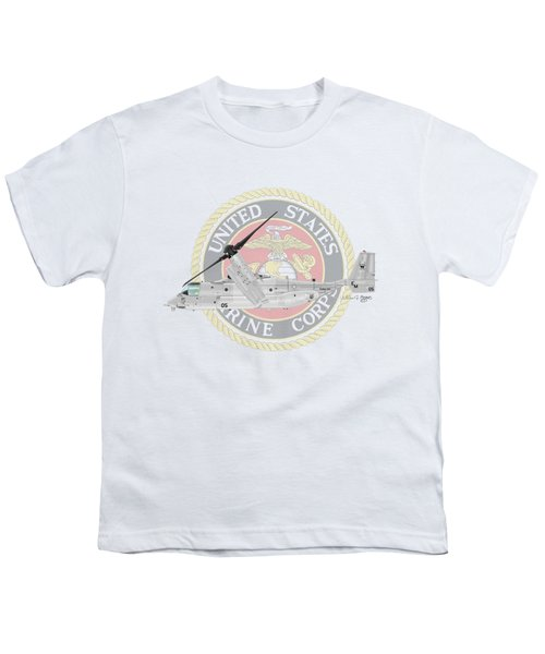 Mv-22bvmm-261 Youth T-Shirt by Arthur Eggers