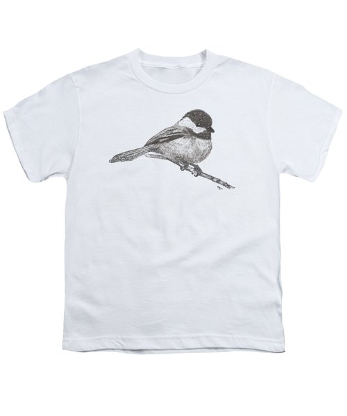 My Little Chickadee-dee-dee Youth T-Shirt by Mary-Ellen Arsenault