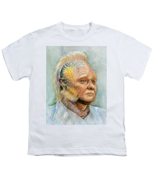 Neelix Star Trek Voyager Watercolor Youth T-Shirt by Olga Shvartsur