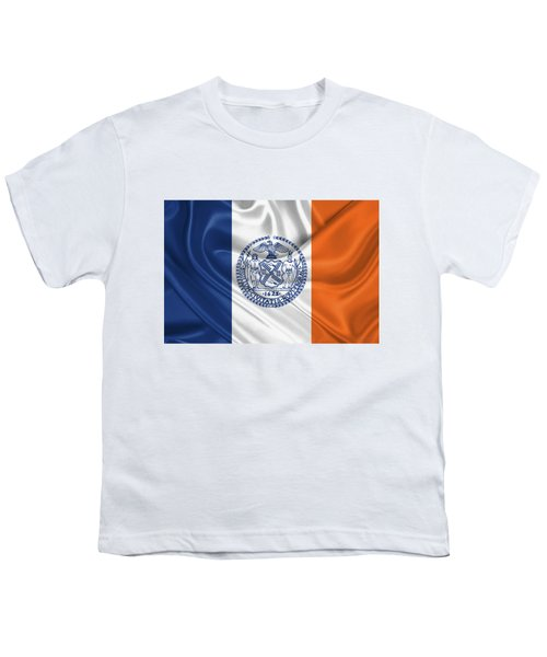 New York City - Nyc Flag Youth T-Shirt by Serge Averbukh
