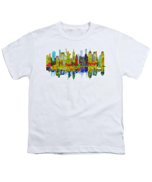 New York Skyline Youth T-Shirt by John Groves