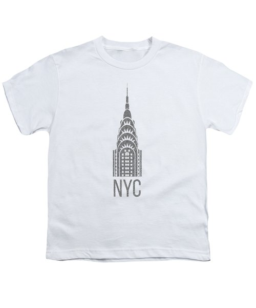 Nyc New York City Graphic Youth T-Shirt by Edward Fielding