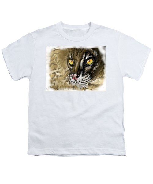 Ocelot Youth T-Shirt by Darren Cannell