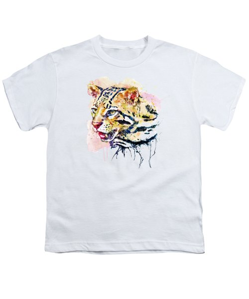 Ocelot Head Youth T-Shirt by Marian Voicu
