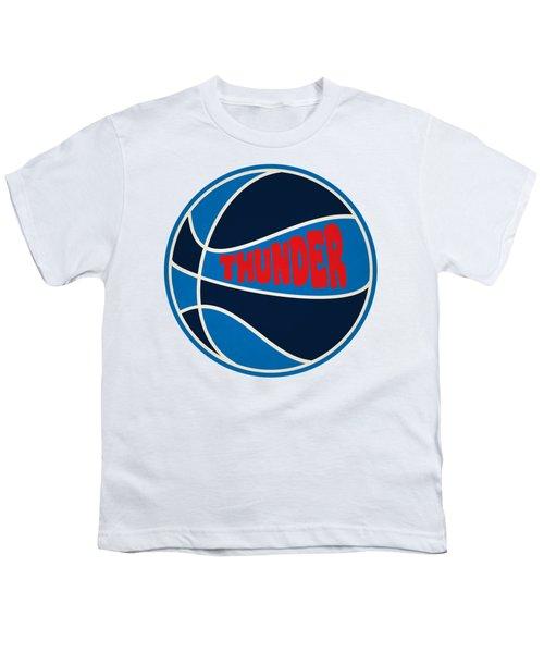 Oklahoma City Thunder Retro Shirt Youth T-Shirt by Joe Hamilton