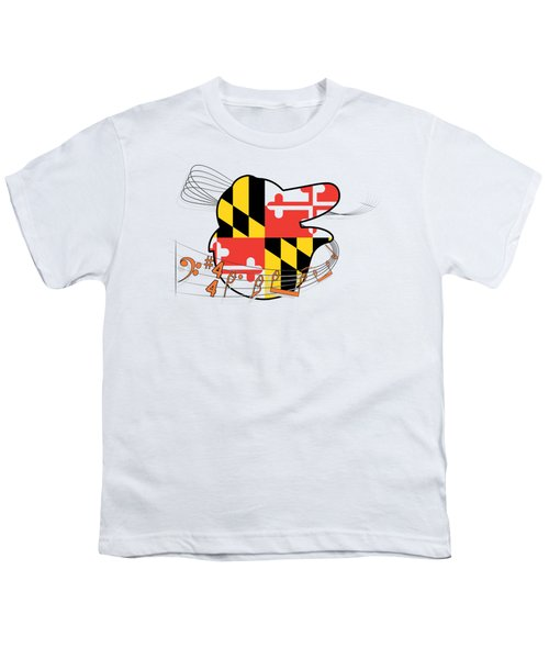 Oriole Sheet Music Design Youth T-Shirt by Justin Canose