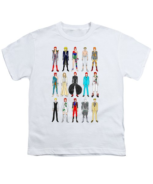 Outfits Of Bowie Youth T-Shirt by Notsniw Art