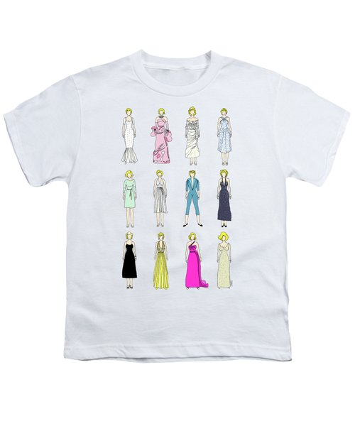 Outfits Of Marilyn Fashion Youth T-Shirt by Notsniw Art