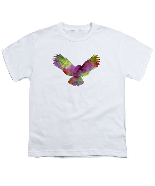 Owl 02 In Watercolor Youth T-Shirt by Pablo Romero