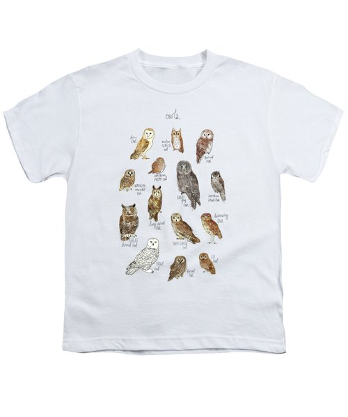 Owls Youth T-Shirt by Amy Hamilton