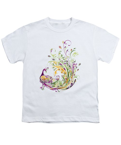 Peacock Youth T-Shirt by Bekare Creative