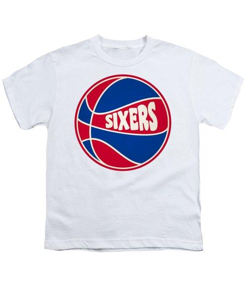 Philadelphia 76ers Retro Shirt Youth T-Shirt by Joe Hamilton
