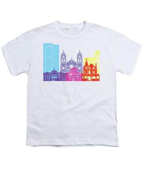 Phoenix Skyline Pop Youth T-Shirt by Pablo Romero
