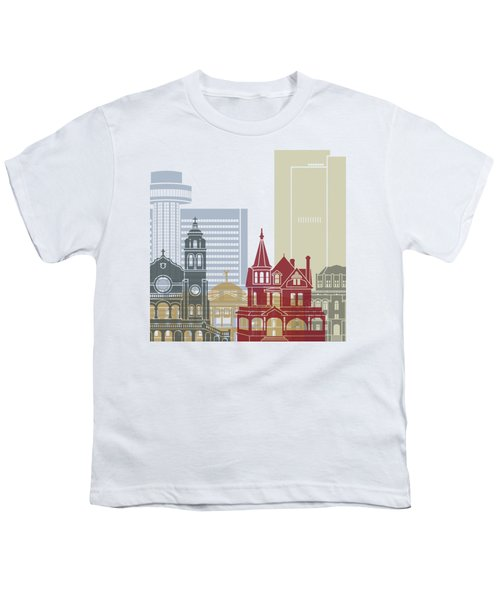 Phoenix Skyline Poster Youth T-Shirt by Pablo Romero