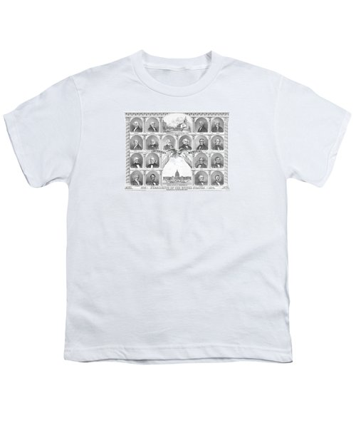 Presidents Of The United States 1776-1876 Youth T-Shirt by War Is Hell Store