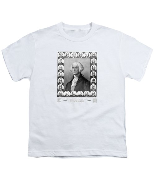 Presidents Of The United States 1789-1889 Youth T-Shirt by War Is Hell Store