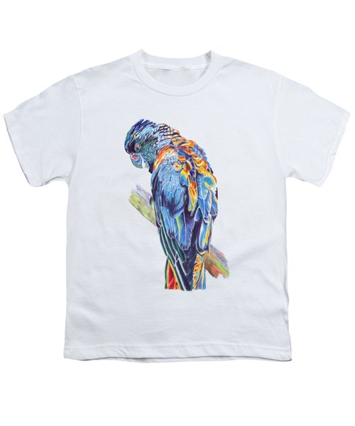 Psychedelic Parrot Youth T-Shirt by Lorraine Kelly