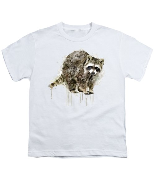 Raccoon Youth T-Shirt by Marian Voicu