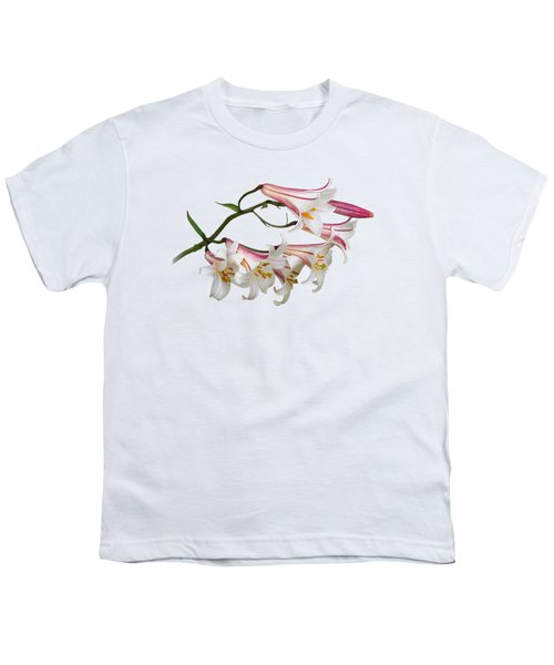 Radiant Lilies Youth T-Shirt by Gill Billington