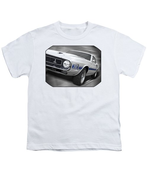 Rain Won't Spoil My Fun - 1969 Shelby Gt500 Mustang Youth T-Shirt by Gill Billington