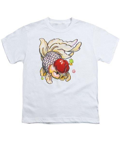 Red Cap Mixed Ranchu Youth T-Shirt by Shih Chang Yang