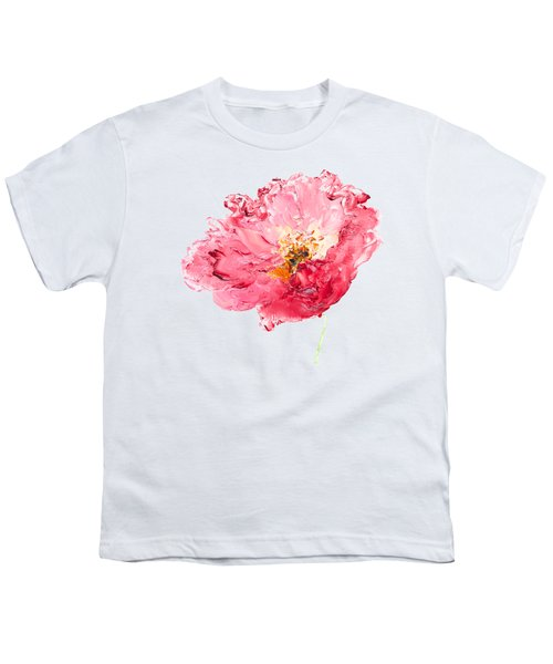 Red Poppy Painting Youth T-Shirt by Jan Matson