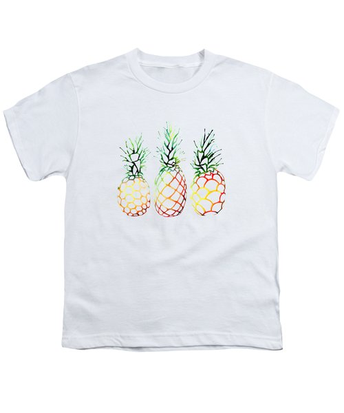 Retro Pineapples Youth T-Shirt by Sam Nagel