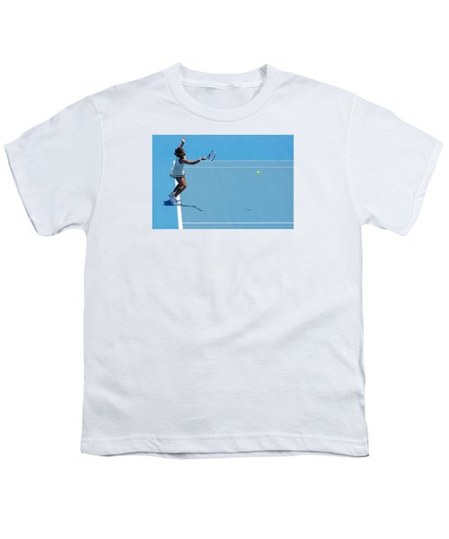 Return - Serena Williams Youth T-Shirt by Andrei SKY