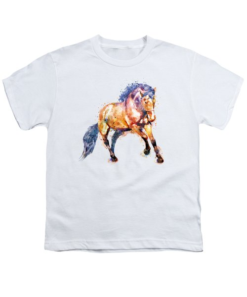 Running Horse Youth T-Shirt by Marian Voicu