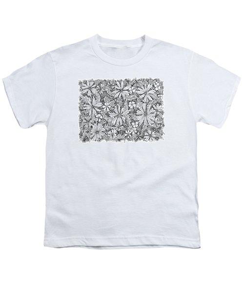 Sea Of Flowers And Seeds At Night Horizontal Youth T-Shirt by Tamara Kulish