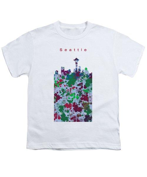 Seattle Skyline .3 Youth T-Shirt by Alberto RuiZ