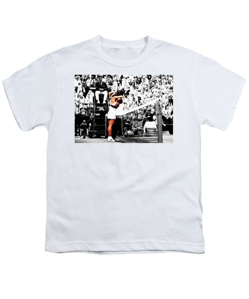Serena Williams And Angelique Kerber 1a Youth T-Shirt by Brian Reaves