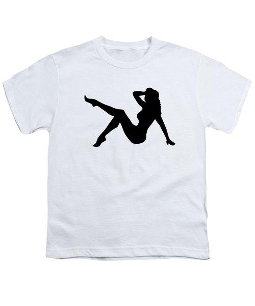 Sexy Trucker Girl Tee Youth T-Shirt by Edward Fielding