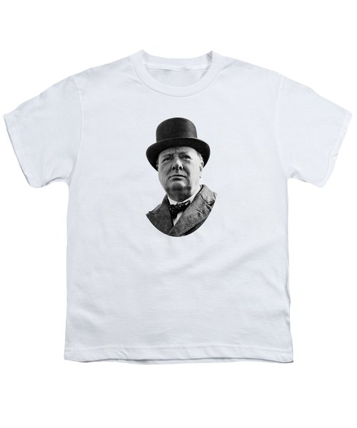 Sir Winston Churchill Youth T-Shirt by War Is Hell Store