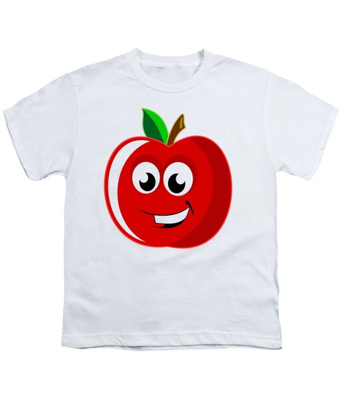 Smiley Tomato With Changeable Background  Youth T-Shirt by Sebastien Coell