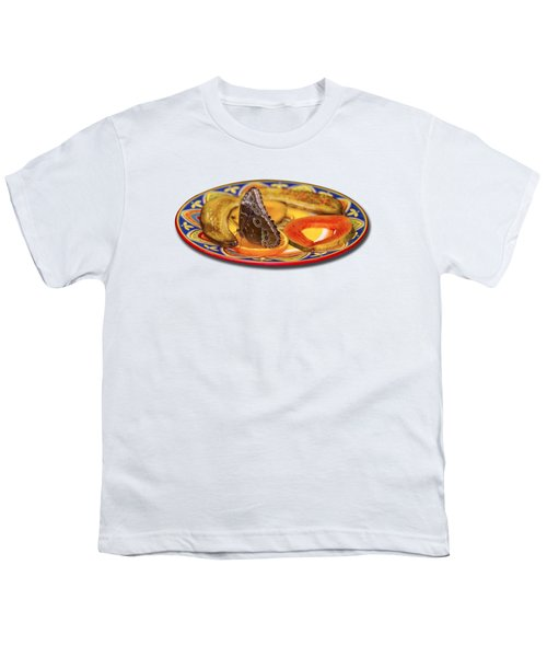 Snacking Butterfly Youth T-Shirt by Bob Slitzan