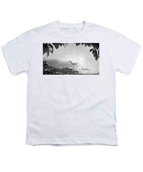Snowy Egret Youth T-Shirt by Sandy Taylor