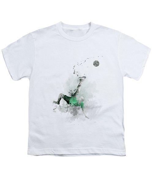 Soccer Player Youth T-Shirt by Marlene Watson