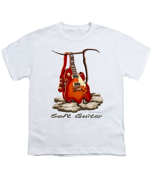 Soft Guitar - 3 Youth T-Shirt by Mike McGlothlen