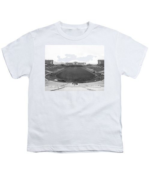 Soldier Field In Chicago Youth T-Shirt by Underwood Archives