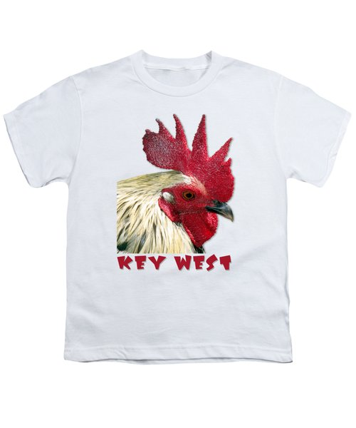 Special Edition Key West Rooster Youth T-Shirt by Bob Slitzan