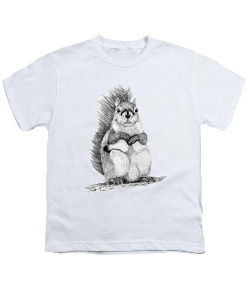 Squirrel Youth T-Shirt by John Stuart Webbstock