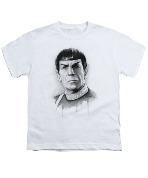 Star Trek Spock Portrait Youth T-Shirt by Olga Shvartsur