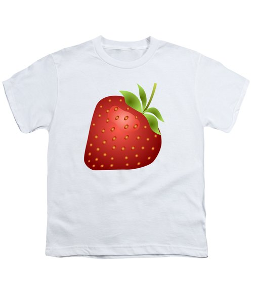 Strawberry Fruit Youth T-Shirt by Miroslav Nemecek