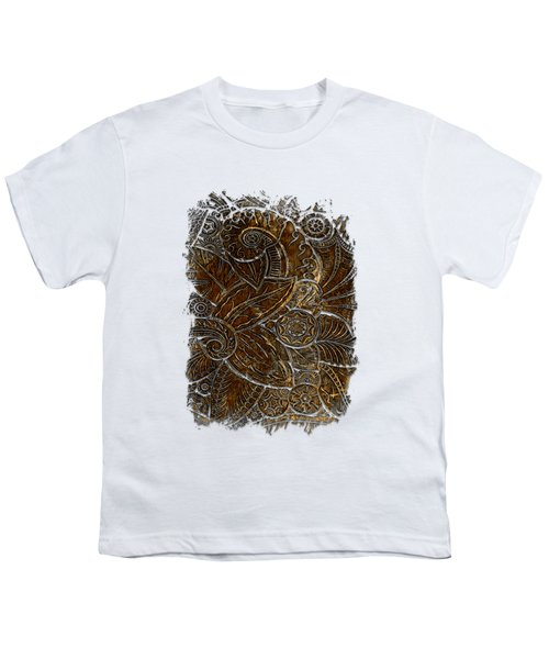 Swan Dance Earthy 3 Dimensional Youth T-Shirt by Di Designs