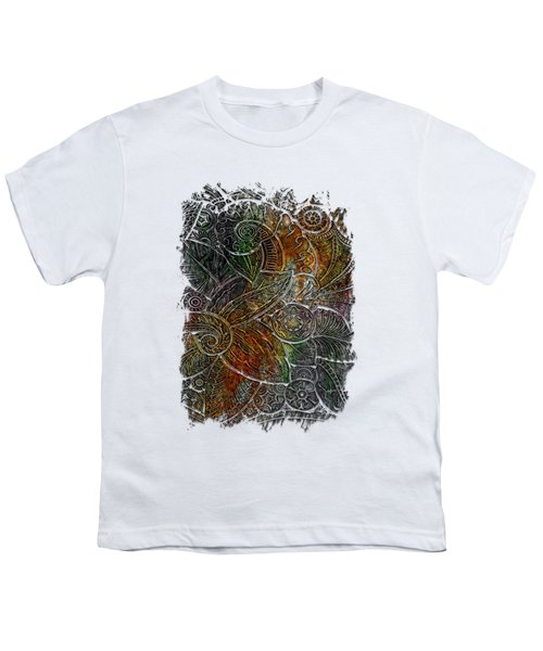 Swan Dance Muted Rainbow 3 Dimensional Youth T-Shirt by Di Designs