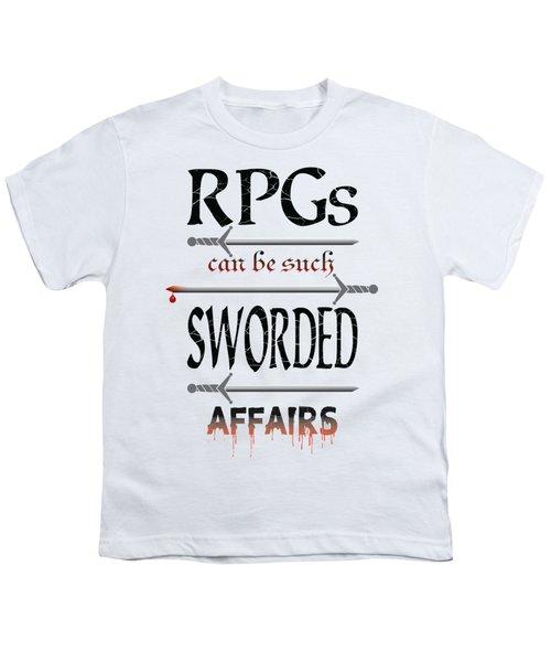 Sworded Affairs Light Youth T-Shirt by Jon Munson II