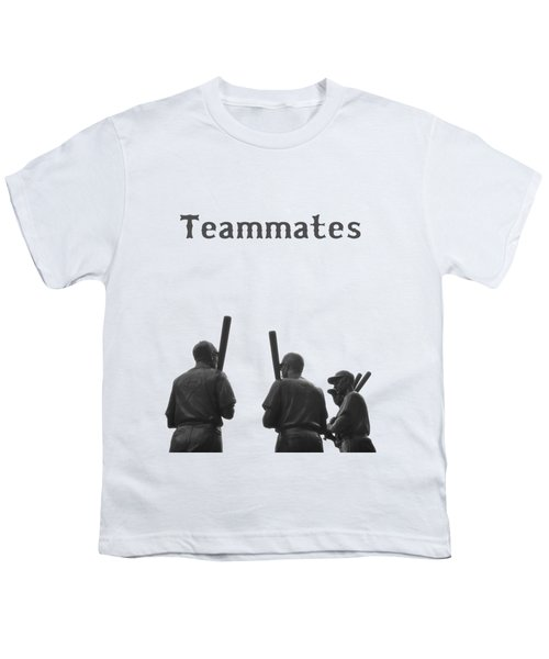 Teammates Poster - Boston Red Sox Youth T-Shirt by Joann Vitali