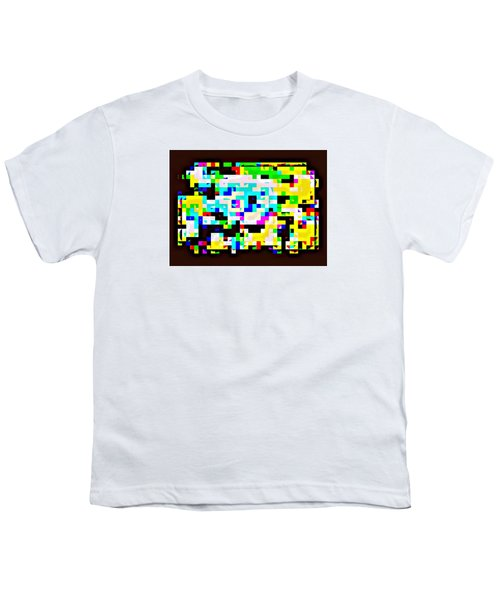 Techno Rainbow Youth T-Shirt by Andy Rhodes